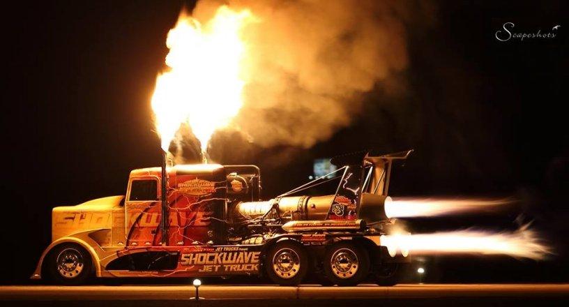 SHOCKWAVE and Flash Fire Jet Trucks - Shockwave
